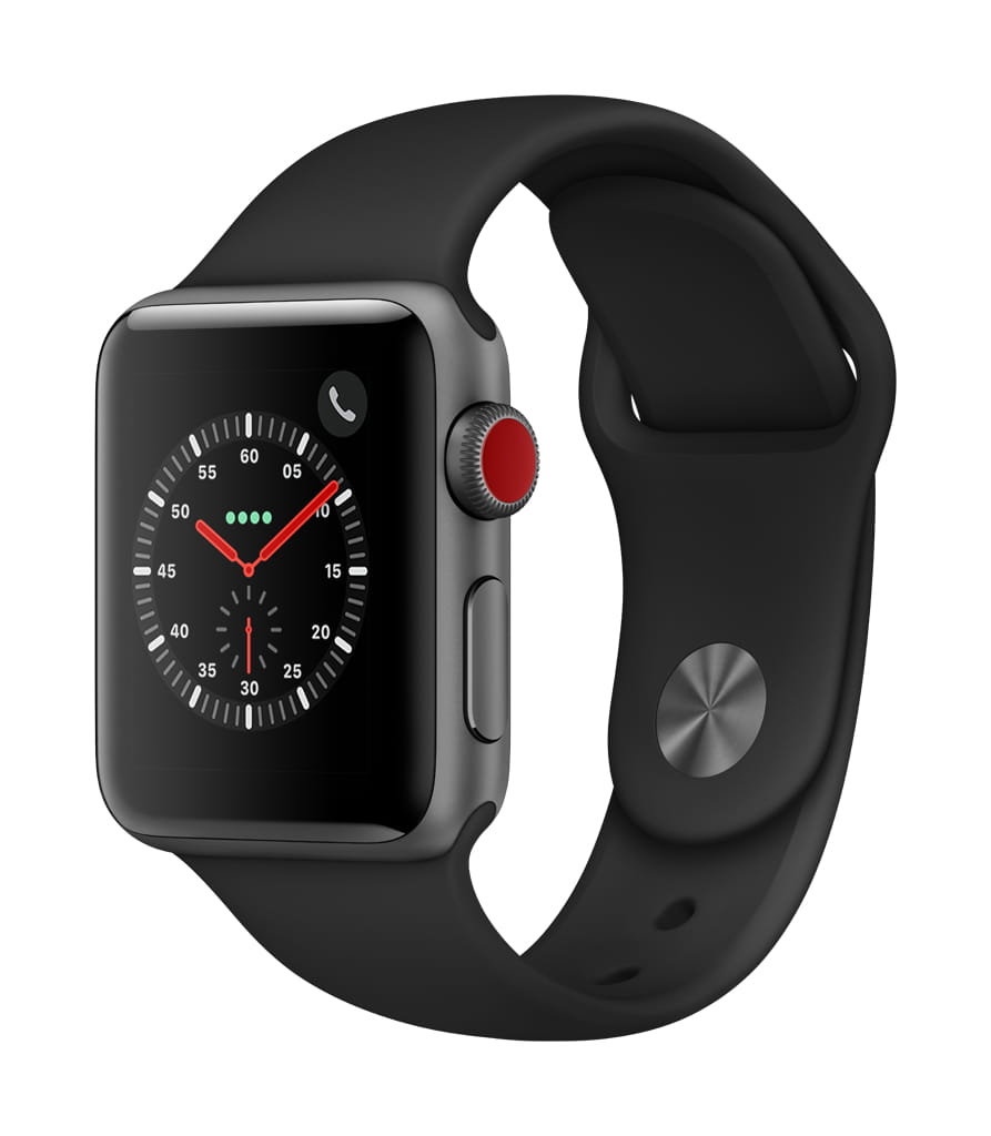 Apple Watch Series 3 (GPS + Cellular) Aluminum Case with Sport Band 42mm by Apple