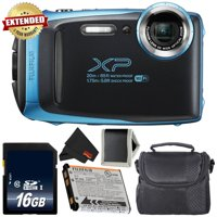 Fujifilm FinePix XP130 Waterproof Digital Camera 2018 Version (Sky Blue) Bundle with 16GB Memory Card