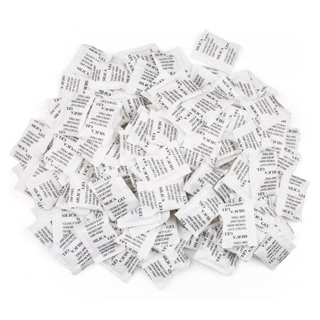 - 2g Silica Gel Desiccant Packets, 160 Packs, Safe Odorless Non-Toxic Moisture Absorbing Drying Bag