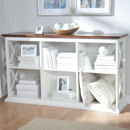 Strange Belham Living Hampton Console Table 2 Shelf Bookcase White Oak Pdpeps Interior Chair Design Pdpepsorg