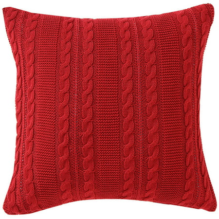 VCNY Home Dublin Cable Knit 18u0022 x 18u0022 Square Decorative Throw Pillow, Multiple Colors Available