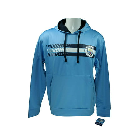 Manchester City F.C. Front Fleece Jacket Sweatshirt Official License Soccer Hoodie Small 017 (Manchester City Soccer Hoodie)