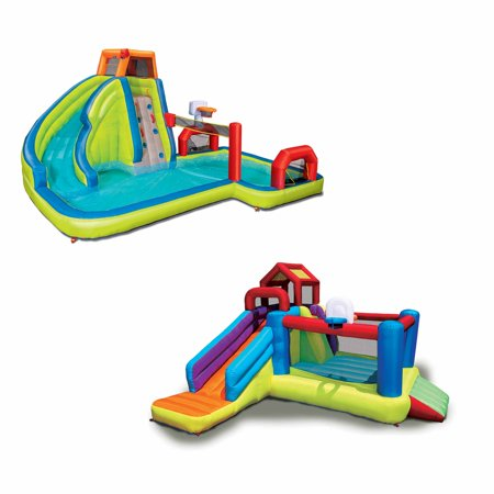 Banzai 2-in-1 Ultimate Bounce House and Water Slide Combo