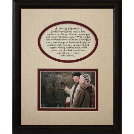 8X10 Loving Memory Picture & Poetry Photo Gift Frame ~ Cream/Burgundy Mat With Black Frame * Memorial * Bereavement * Sympathy * Condolence Picture And Poetry Keepsake Gift Frame