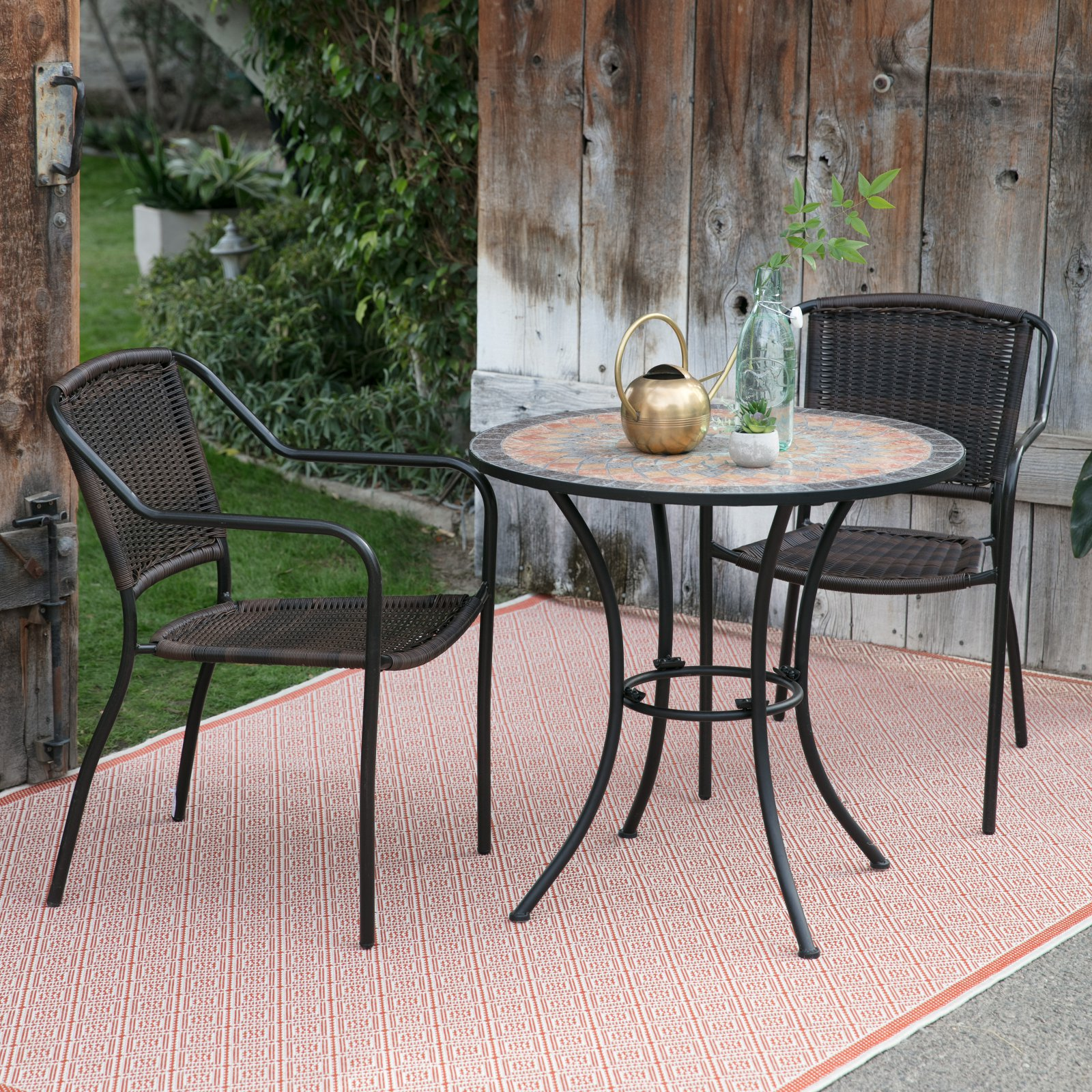 Coral Coast Santa Cruz Bistro Chair with Solita Mosaic Table