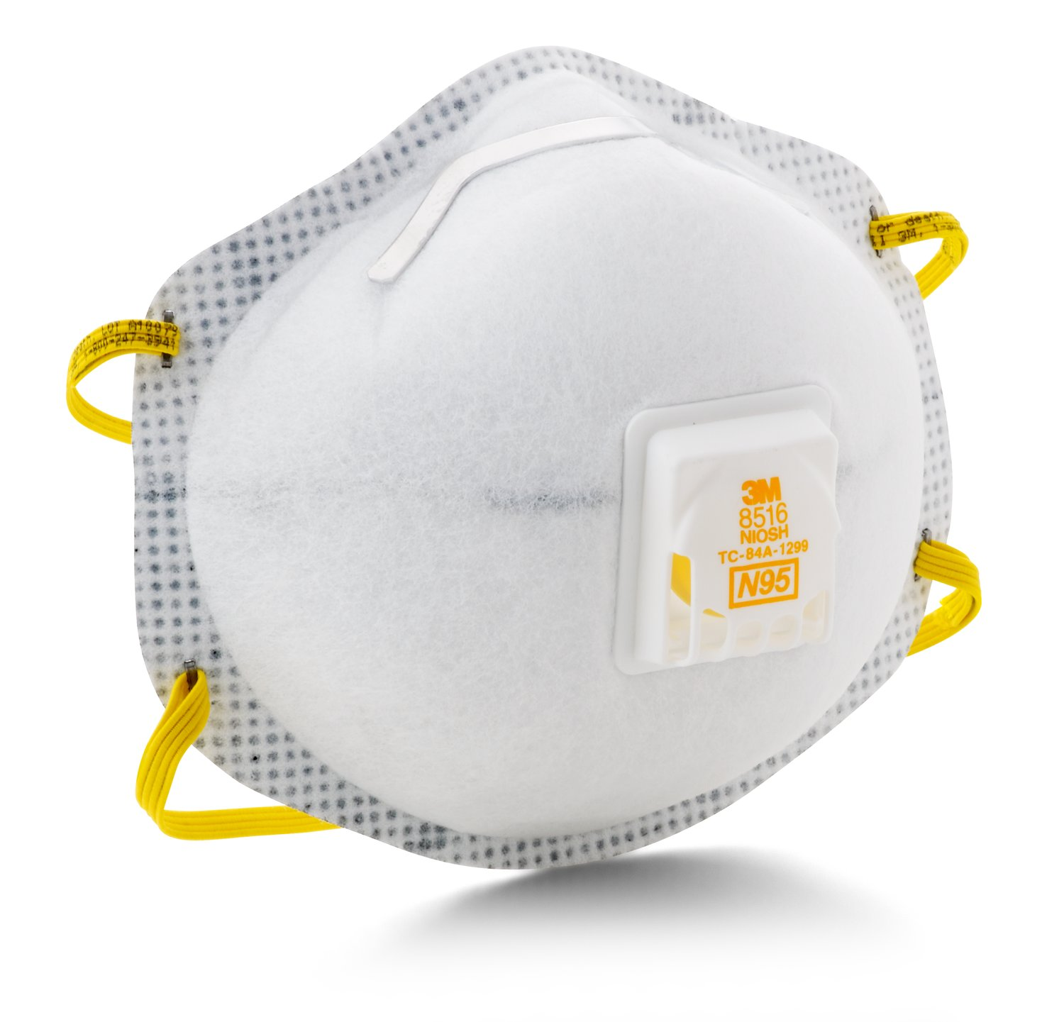 Click here to buy 3M 8516 N95 Particulate Respirator w  Nuisance Level Acid Gas Relief, 10 DP by Erb safety.