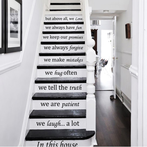 Decal House In This House We Do Stairway decor