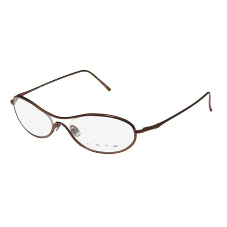 8044b5ff2c9 New Kata Mondo Womens Ladies Oval Full-Rim Titanium Copper Light Weight  Allergy Free Titanium Frame Demo Lenses 56-19-140 Eyeglasses Eye Glasses -  Walmart. ...