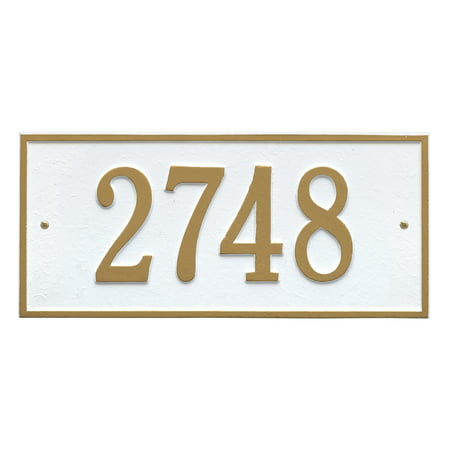 Personalized Whitehall Hartford 1 Line Wall Plaque In White Gold