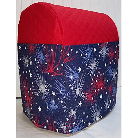 Holiday Themed Sunbeam Heritage Series 4.6qt Mixmaster Cover (Red Fireworks)