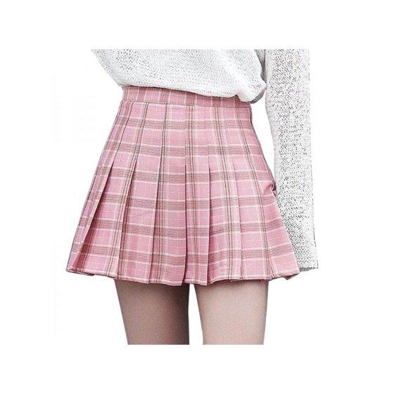 7ec814ecd8 Topumt - Topum Women Girls Summer Tennis High Waist Plaid Skirt ...