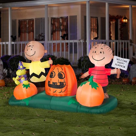 5 animated airblown pumpkin patch peanu walmartcom