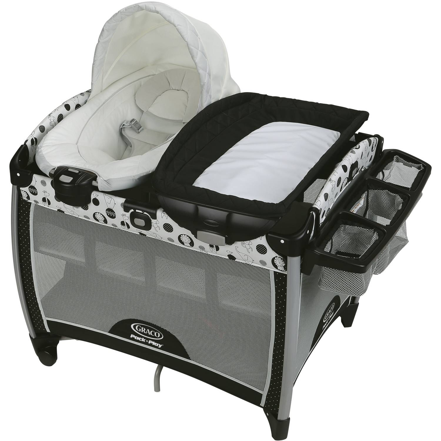 Graco Pack 'n Play Quick Connect Portable Bouncer Playard with Bassinet, Balancing Act