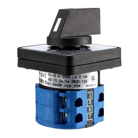 Cam Changeover Switch 3 Position Rotary Selector Cam Switch 8 Terminal LW26-20 - image 1 de 4