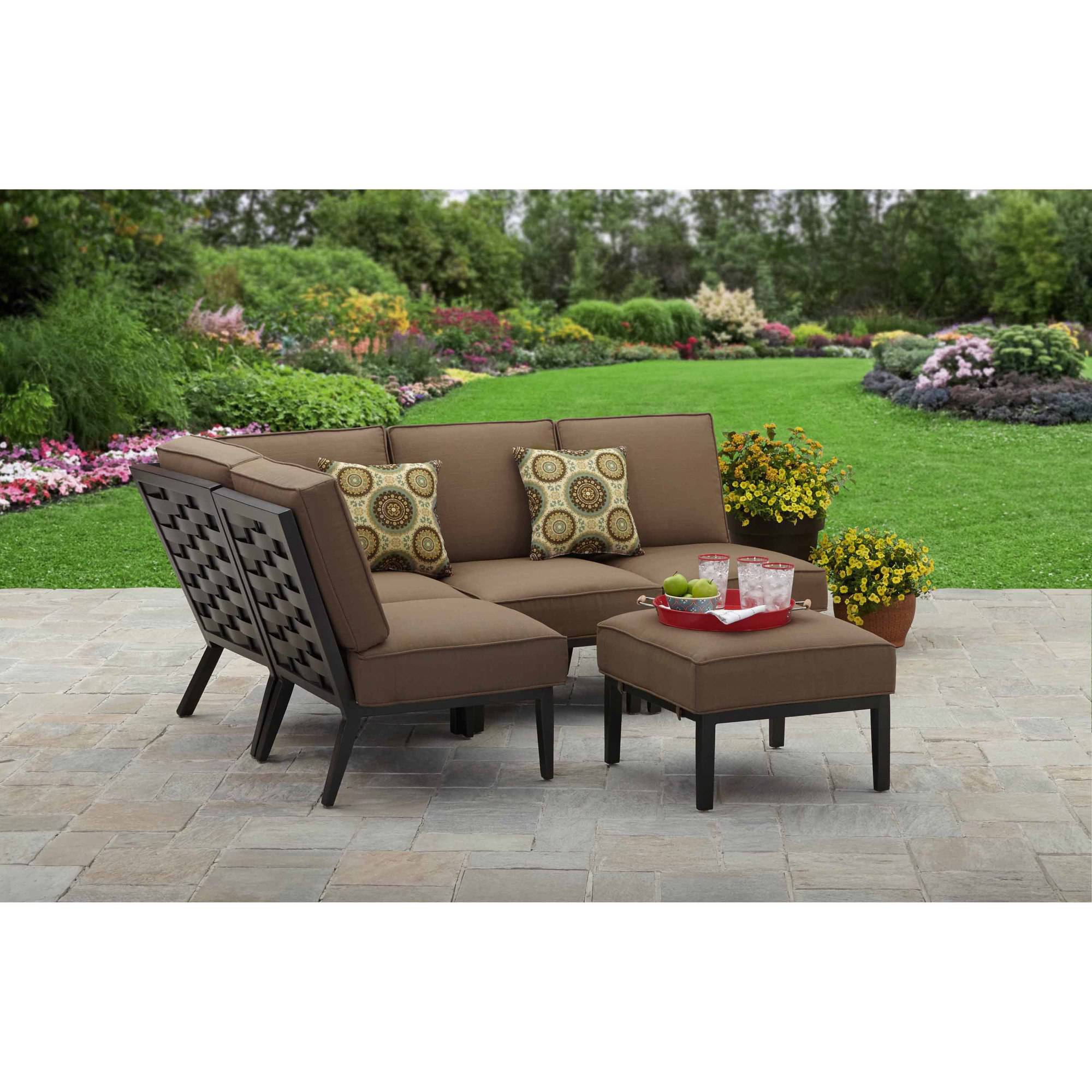 Better Homes And Gardens Hampton Road 5 Piece Cushion Sectional Set    Walmart.com
