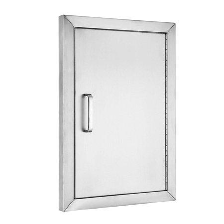 (BestEquip BBQ Island 304 Stainless Door Single Access BBQ Door 14x20inch Single Door Flush Mount)