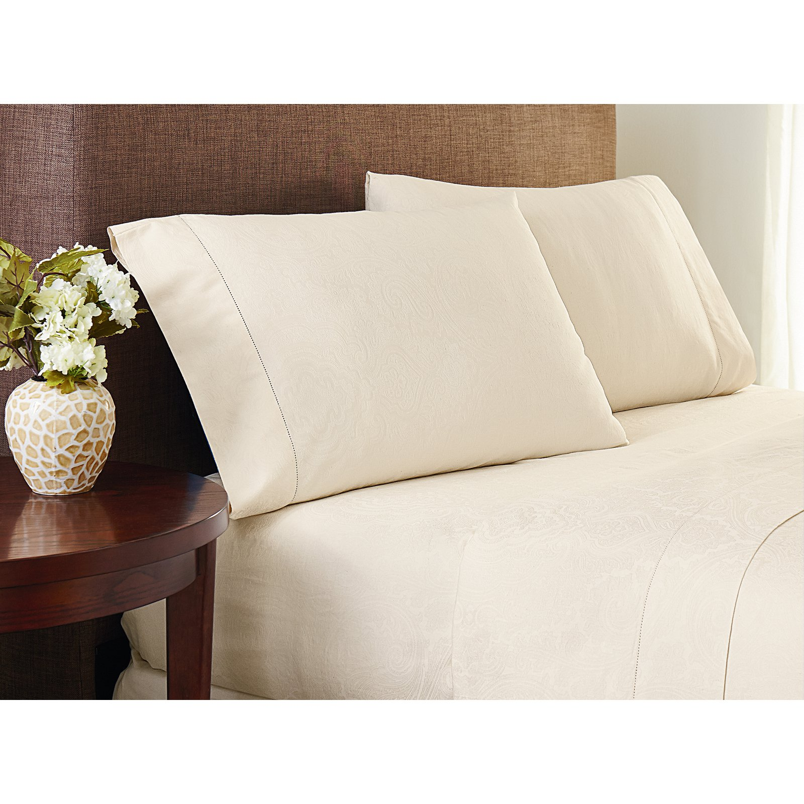Crowning Touch Cotton Naturals Jacquard Sheet Set