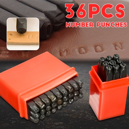 36pcs 4mm New Stamps Letters Alphabet Numbers Set Punch Steel Metal Tool  new - image 10 de 10