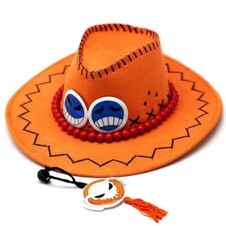 KABOER 2019 Fashion Cap  One Piece Portgas D Ace Anime Cosplay Costume Cowboy Hat - Party Display And Costume