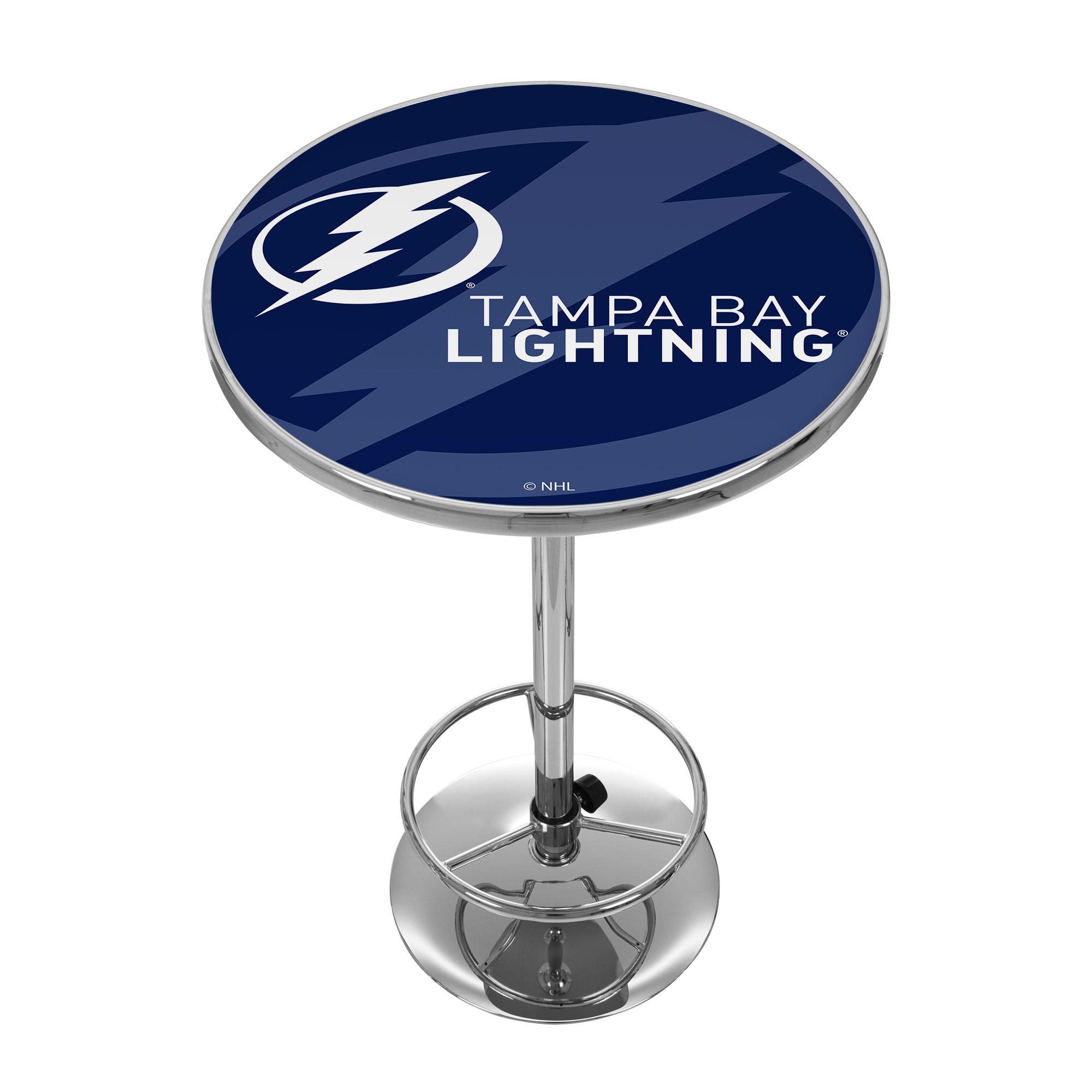 NHL Chrome Pub Table - Watermark - Tampa Bay Lightning