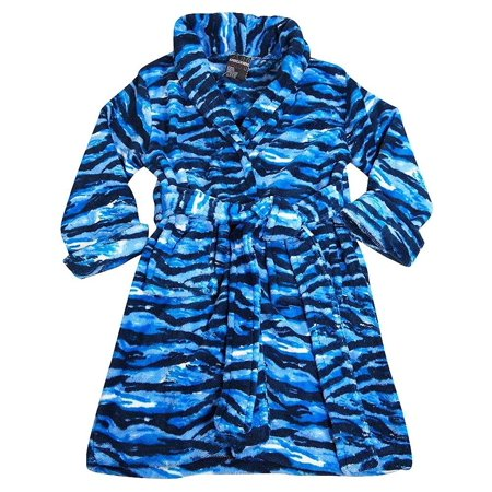 American Hero - Little Boys Soft Plush Cozy Robe Blue Camouflage / 4/5 (Cozy Robe)
