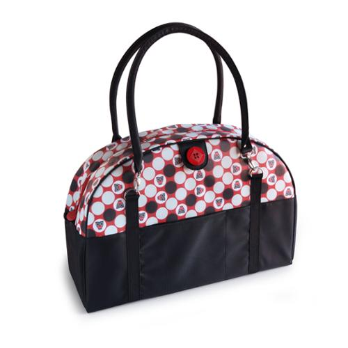 2 Red Hens Coop Carry-All Diaper Bag in Owl Dots