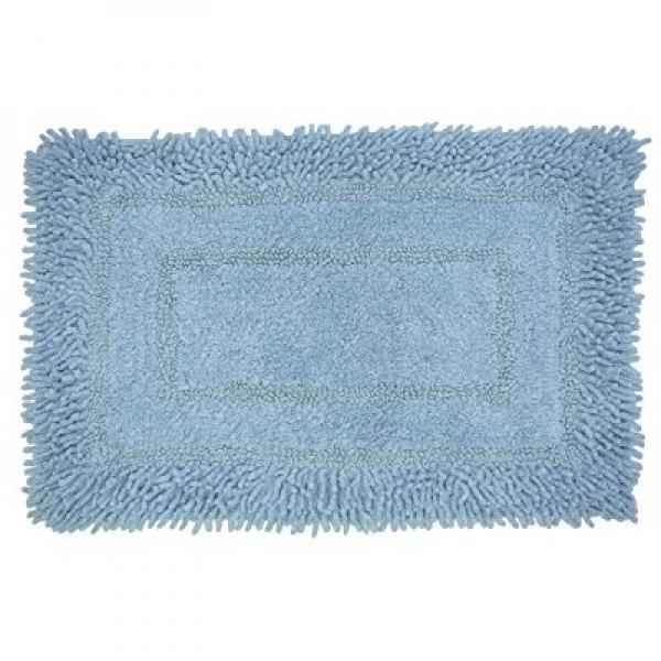 Family Home Hotel Collection Frame Shagg Ultra Soft 100% Chenille Cotton Bath Rug Mat 27 X 45 (Sky)