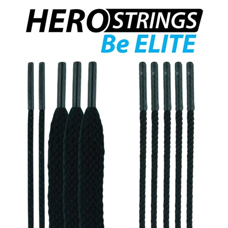 (1-Pack) Lacrosse HeroStrings Pro Stringing Kit Black HM-Strings-Blk-1P By East Coast Dyes Ship from