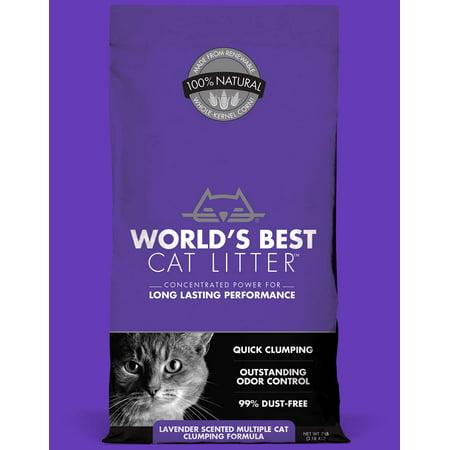 Worlds Best Cat Litter Multiple Cat Clumping Litter Cat, Lavender Scent, (Best Litter For Sphynx Cats)