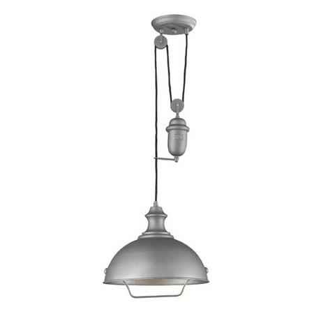 Pendants 1 Light With Aged Pewter Finish Medium Base 14 inch 100 Watts - World of Lamp Aged Pewter One Light