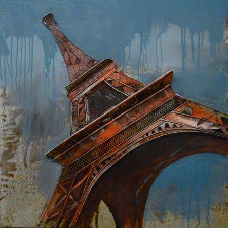 Eiffel Tower Rustic Metal Wall Decor - Walmart.com