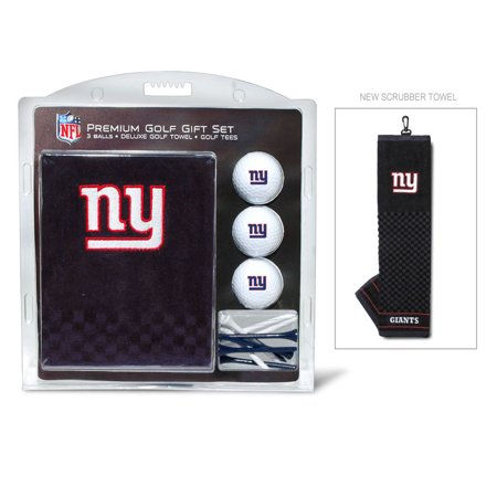 Team Golf NFL New York Giants Embroidered Golf Towel, 3 Golf Ball, and Golf Tee