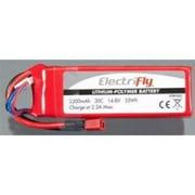 GREAT PLANES LiPo 4S 14.8V 2200mAh 30C Elctrfly w/Ult Plug GPMP0862