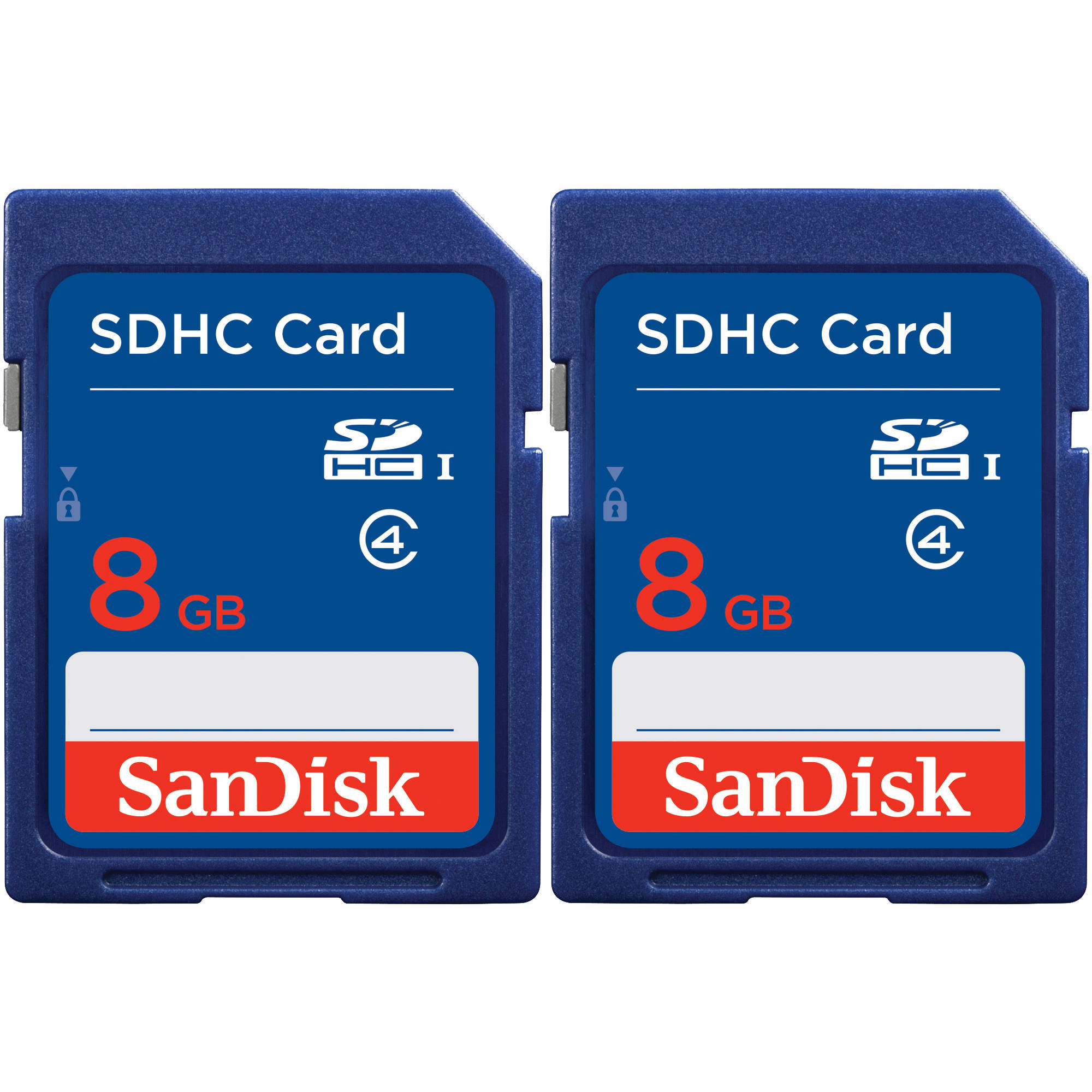 SanDisk SDHC 8GB Class 4 Memory Card, 2-Pack