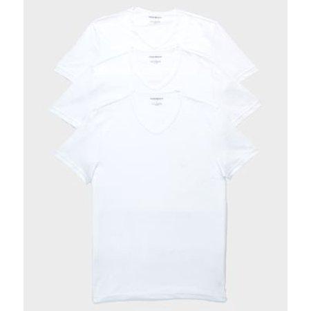 Armani White T-shirt (Emporio Armani Pure Cotton V-Neck T-Shirt 3-Pack)