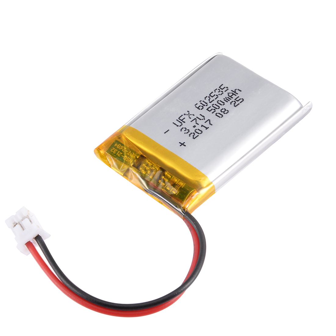 Unique Bargains Power Supply DC 3.7V 500mAh 602535 Rechargeable Lithium Polymer Li-Po Battery