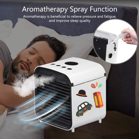 Personal Space Air Cooler, 3 in 1 USB Mini Portable Air Conditioning Fan, Humidifier Cooling Fan - image 3 of 7