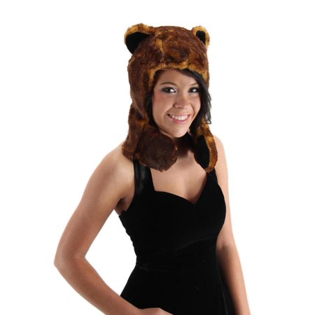 Bear Hug Costume Plush Hat Adult One Size