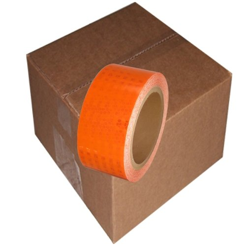"Super Bright High Intensity Reflective Tape 2"" x 30' (6 Roll/Case) Orange"