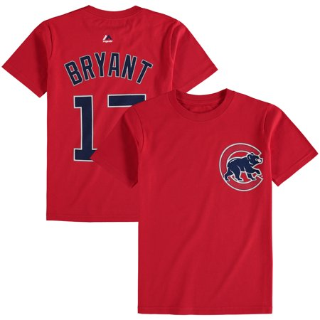 - Kris Bryant Chicago Cubs Majestic Youth Player Name & Number T-Shirt - Red
