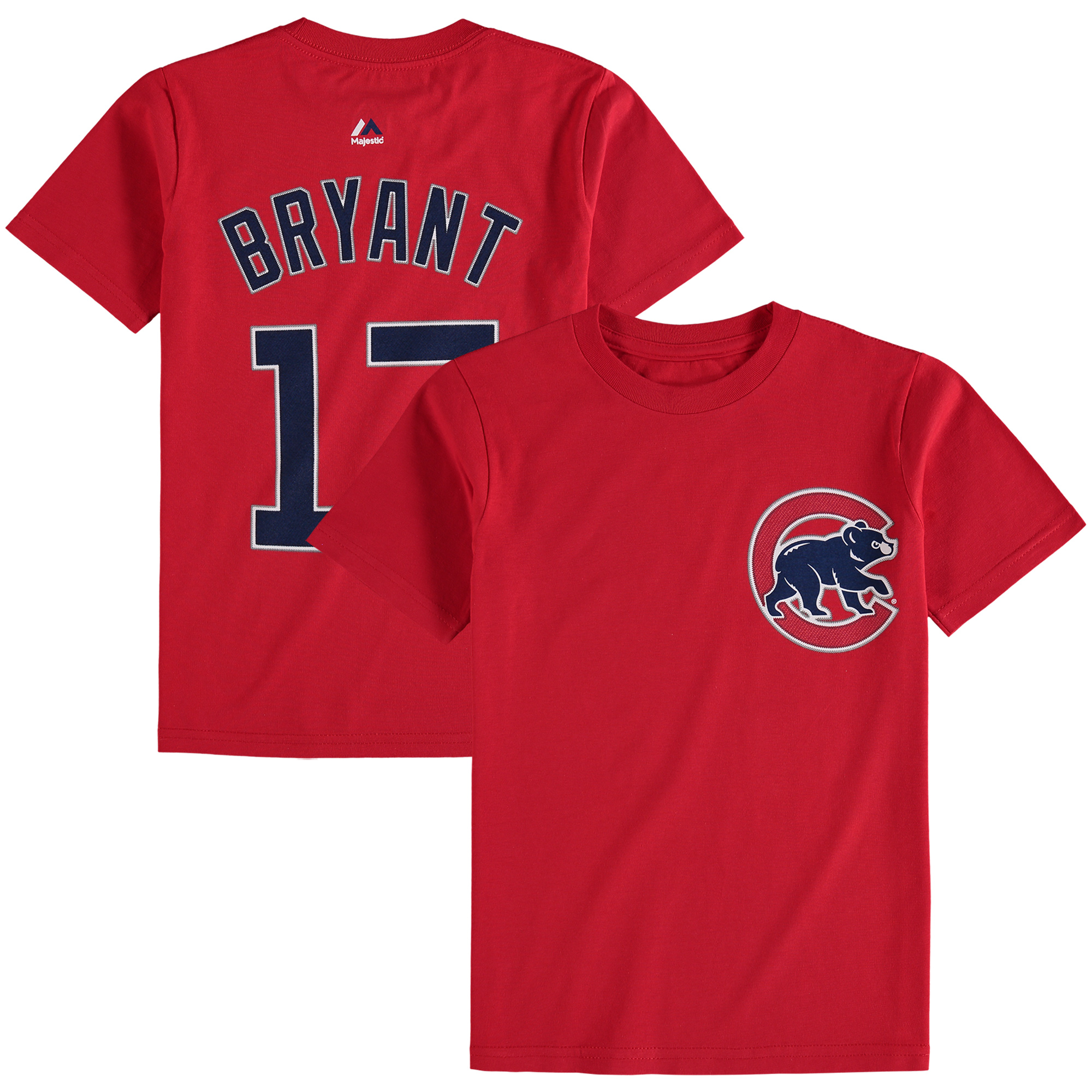 Kris Bryant Chicago Cubs Majestic Youth Player Name & Number T-Shirt - Red