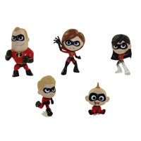 Funko Mystery Mini Vinyl Figures - The Incredibles 2 - SET OF 5 INCREDIBLES (Red Suits)