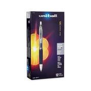 uni-ball 207 Retractable Gel Pens, Medium Point, Black, Box of 12