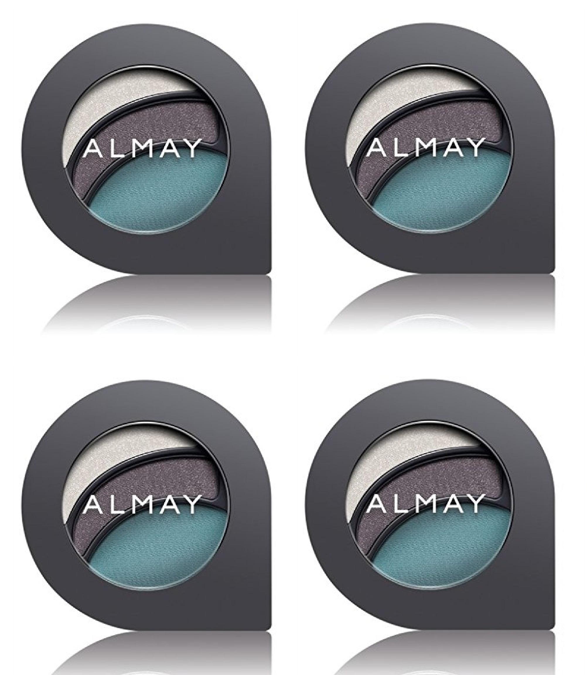 almay intense i-color evening smoky for blue eyes, #150 blues (pack of 4) +  makeup blender sponge