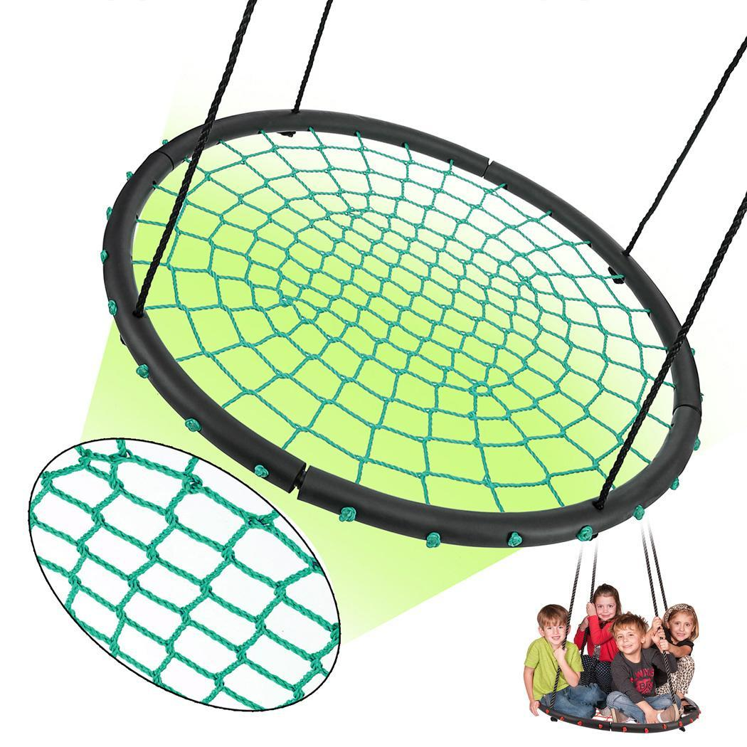 "Christmas BIG SALES  Apluschoice 40"" Children's Tire Spider Web Swing Tree Swings Playground Platform Aphe"
