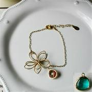 Rebecca FBSGS Flower Wire Bracelet - Gold-Sapphire