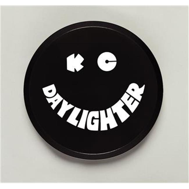 KC HILITE 5200 6 inch Round Black Plastic Light Cover With White Kc Daylighter Logo