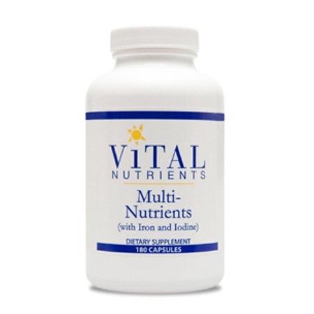Vital Nutrients, multi-nutriments w / fer et iode 180 caps