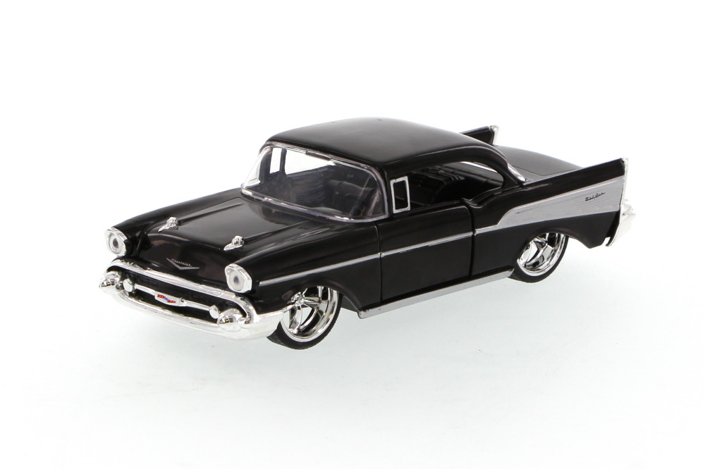 1957 Chevrolet Bel Air, Black Jada Toys 96921 1 32 scale Diecast Model Toy Car (Brand but... by Jada