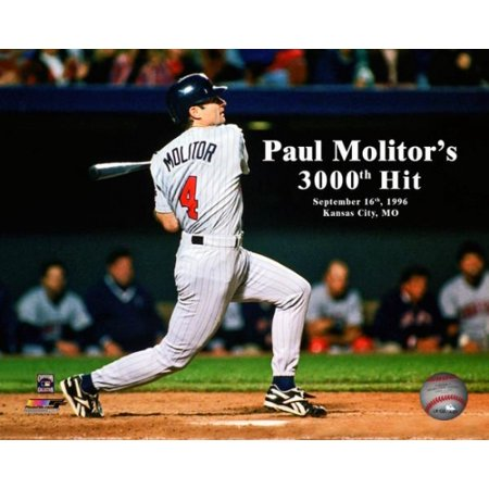 Paul Molitor 3000th Hit September 16 1996 with Overlay Photo Print